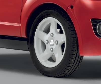Белые колесные диски Aixam City S